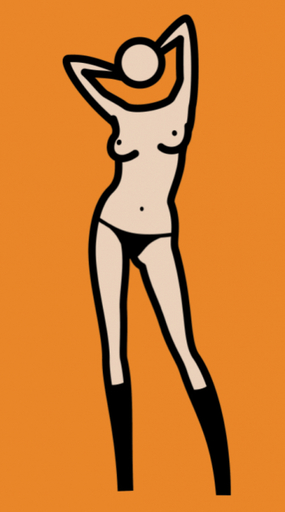 Julian OPIE - Painting - Sara Gets undressed N°20