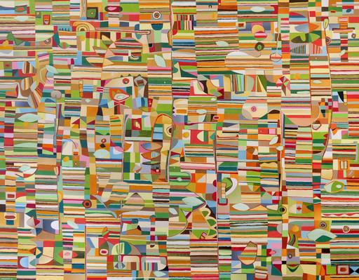 Jérémie IORDANOFF - Gemälde - Les yeux fermés (Abstract painting)