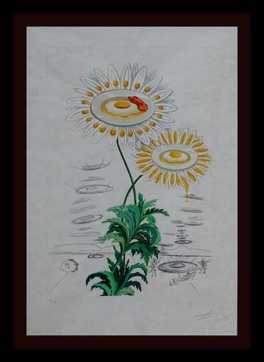 Salvador DALI - Grabado - Flora Dalinae Chrysanthemum