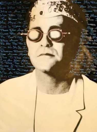 Steve KAUFMAN - 绘画 - Elton John - Lyrics
