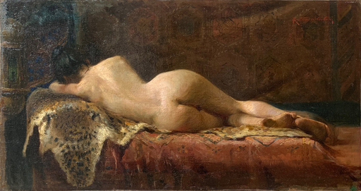 Riccardo SALVADORI - Pintura - Nudo disteso di schiena