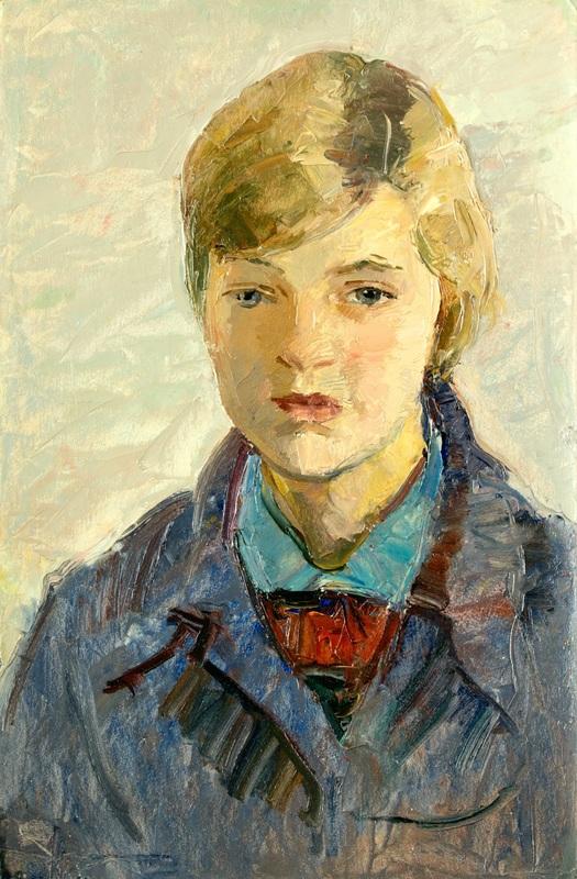 Boris Anatolievich SHOLOKOV - Pintura - Portrait of Nadia