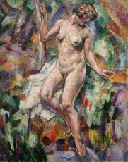 Augustin CARRERA - Painting - nude fauve