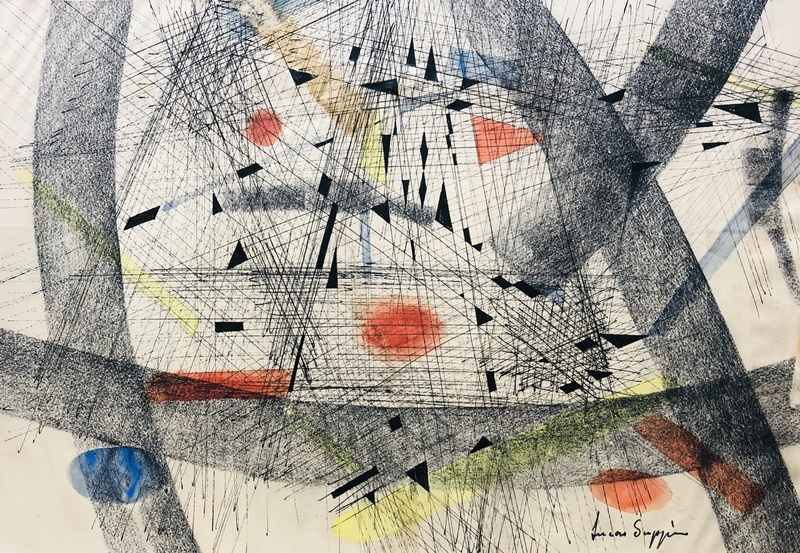 Lucas SUPPIN - Zeichnung Aquarell - Abstraction