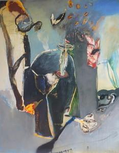 Moris GONTARD - Painting - Le souper de SOCRATE