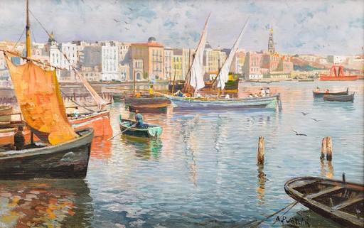 Attilio PRATELLA - Painting - Porto di Napoli