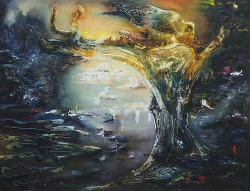 Danielle MAILLET-VILA - Painting - L'arbre et l'oiseau