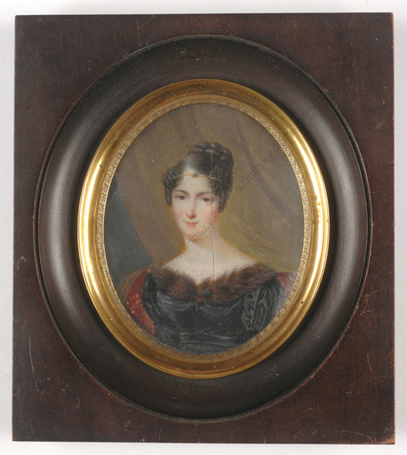 "Louis François AUBRY - Miniature - ""Portrait of a young lady"""