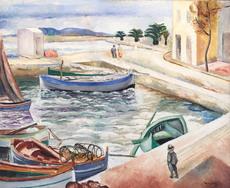 Moïse KISLING - Pintura - Port Scene