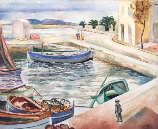 Moïse KISLING - Pittura - Port Scene