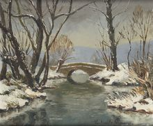 Paul Émile PISSARRO (1884-1972) - Old bridge over the Epte