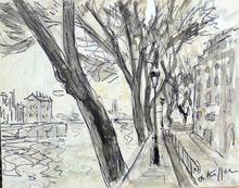 Charles KIFFER - Dibujo Acuarela