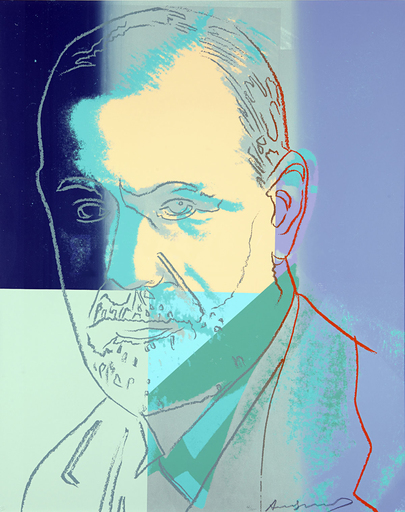 Andy WARHOL - Grabado - Sigmund Freud (FS II.235)