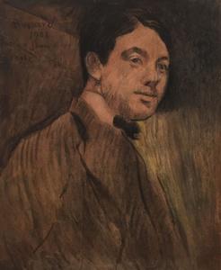 Albert BESNARD - Dibujo Acuarela - Portrait de jeune, 1908