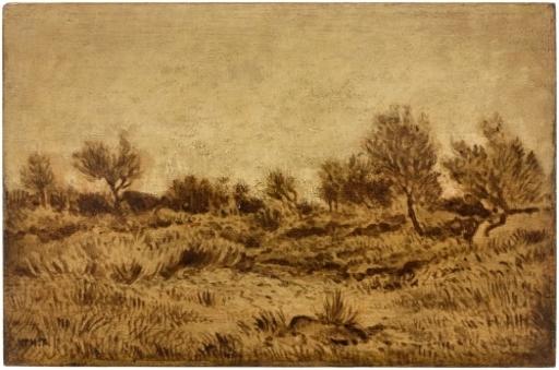 Théodore ROUSSEAU - 绘画 - Bruyères du bois de Macherin