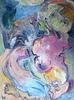 Alkis PIERRAKOS - Painting - Nu, en lisière de forêt