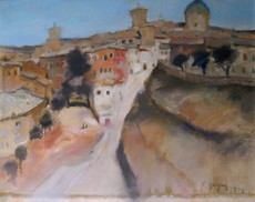 Raoul BERGOUGNAN - Painting - Tolède