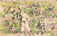 Marcel VERTES - Peinture - Enfant et brebis