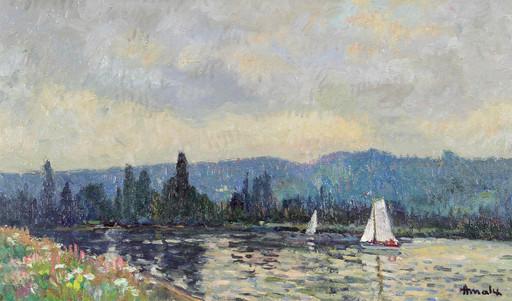 Albert MALET - Pittura - La Seine à Sahurs