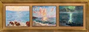 Edoardo GORDIGIANI - Gemälde - Il Mare (trittico)