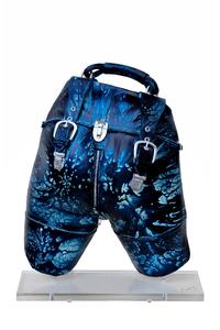 ARSON - Sculpture-Volume - Valise jaspée bleue