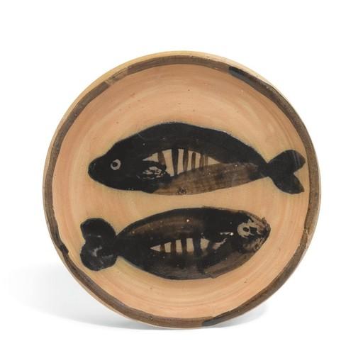 Pablo PICASSO - Ceramic - Deux poissons