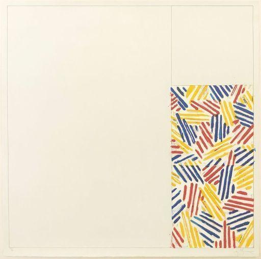 """Jasper JOHNS - Druckgrafik-Multiple - #4, From 6 Lithographs (After """"Untitled 1975)"""