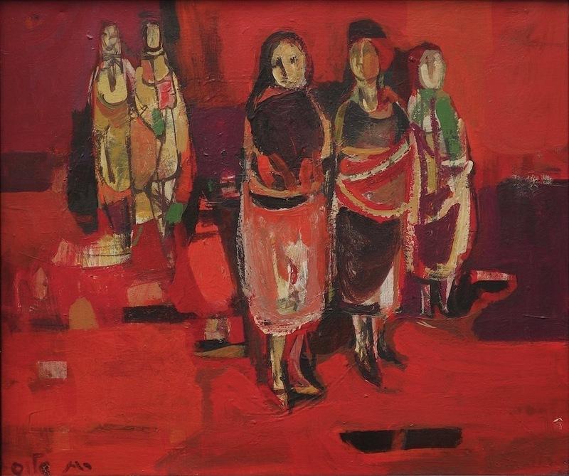 Ruth SCHLOSS - Pintura - Women at the Market