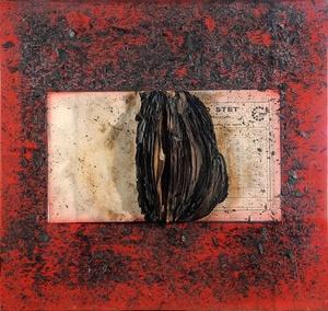 Bernard AUBERTIN - Painting - Livre brûlé