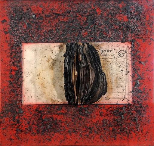 Bernard AUBERTIN - Pintura - Livre brûlé