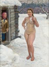 Vlatcheslav SYSSOÏEV - Painting - A Village Bath