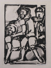 乔治•鲁奥 - 版画 - Homme Conduisant me Autre,W. 340