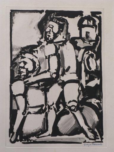 Georges ROUAULT - Druckgrafik-Multiple - Homme Conduisant me Autre,W. 340