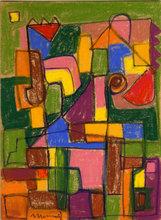 Albert HENNIG - Dibujo Acuarela - Abstrakte Komposition