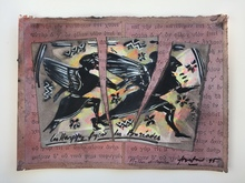 Claude HASTAIRE - Dibujo Acuarela - composition