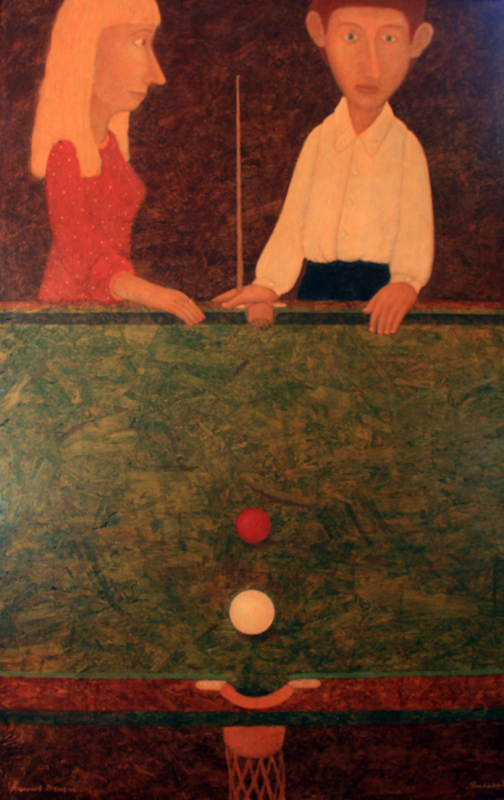 Roman ANTONOV - Painting - Billiard