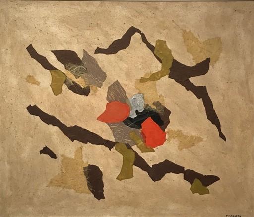 Giulio TURCATO - Peinture - Collage, primi anni '70