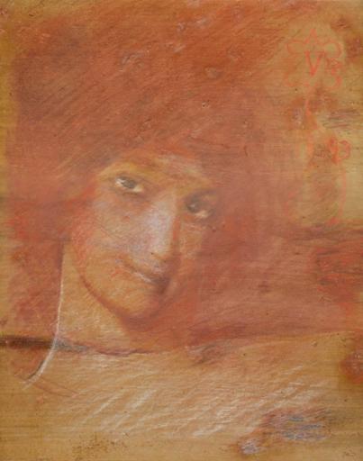 Umberto BOTTAZZI - Gemälde - Ritratto femminile (1893)