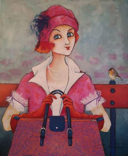 Véronique CLANET - Pittura - MISS ÉGLANTINE