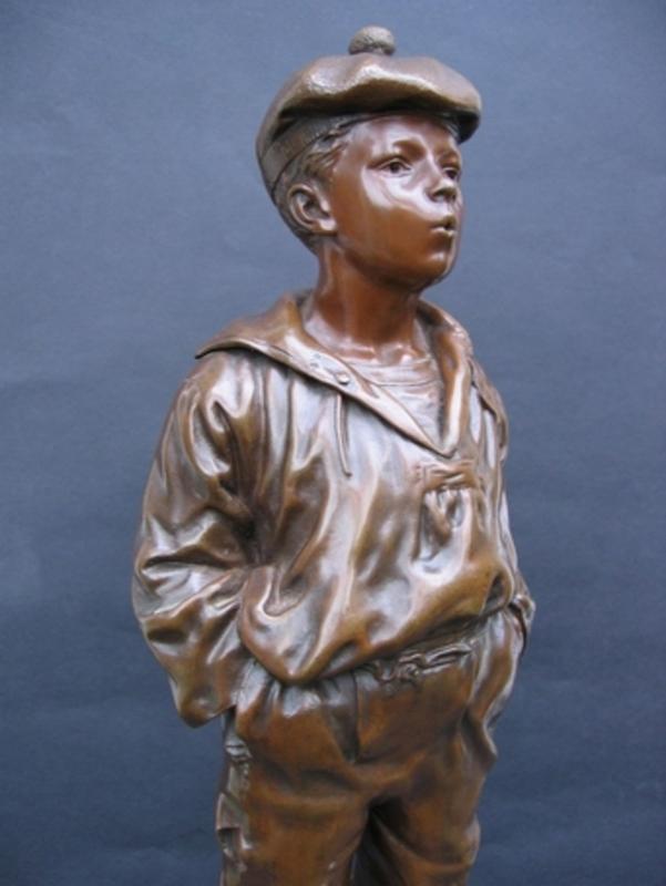 Vlaclav SZCZEBLEWESKY - Escultura - Poulbot -Mousse siffleur