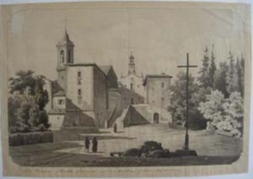 Arthur BLASCHNIK - Dibujo Acuarela - couvent Monte Senaro