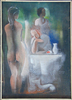 Béla KADAR - Painting - Three Women by the Table