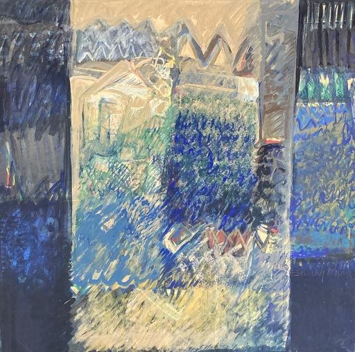 Esti LEVY - Painting - Grand carré bleu V