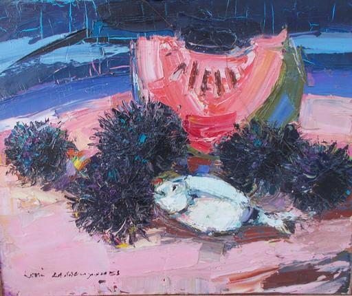 Louis LASBOUYGUES - Pintura - Les oursins