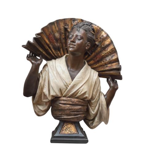 Gustav KOENIG - Escultura - La Japonaise à l'éventail