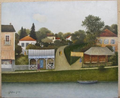 Maurice GHIGLION-GREEN - Painting - Bord de rivière
