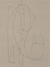 Victor VASARELY - Estampe-Multiple - Drawing II, 50's