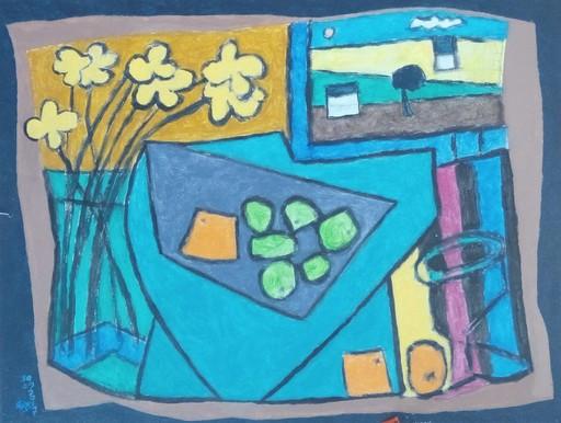 Harry BARTLETT FENNEY - Pittura - still life with fruit bowl
