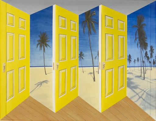 Patrick HUGHES - Print-Multiple - Palm Doors