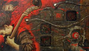 Maxim ORLITSKIY - Painting - Requiem for music